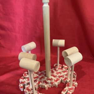 Crab Paper Towel and Mallet Holder - Red Crab design