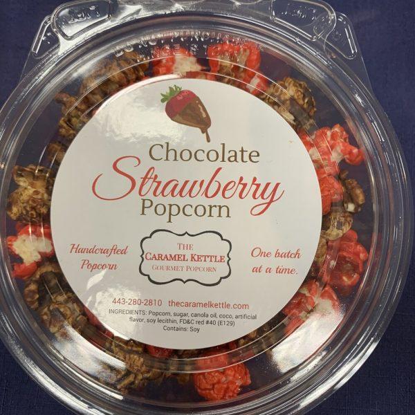 Chocolate Strawberry Popcorn