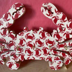 Crab Key Hanger - Red Crab Design