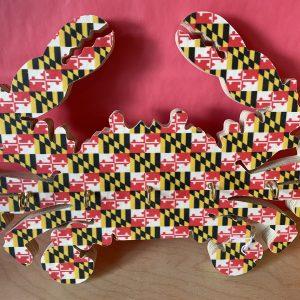 Crab Key Hanger - Maryland Flag Design